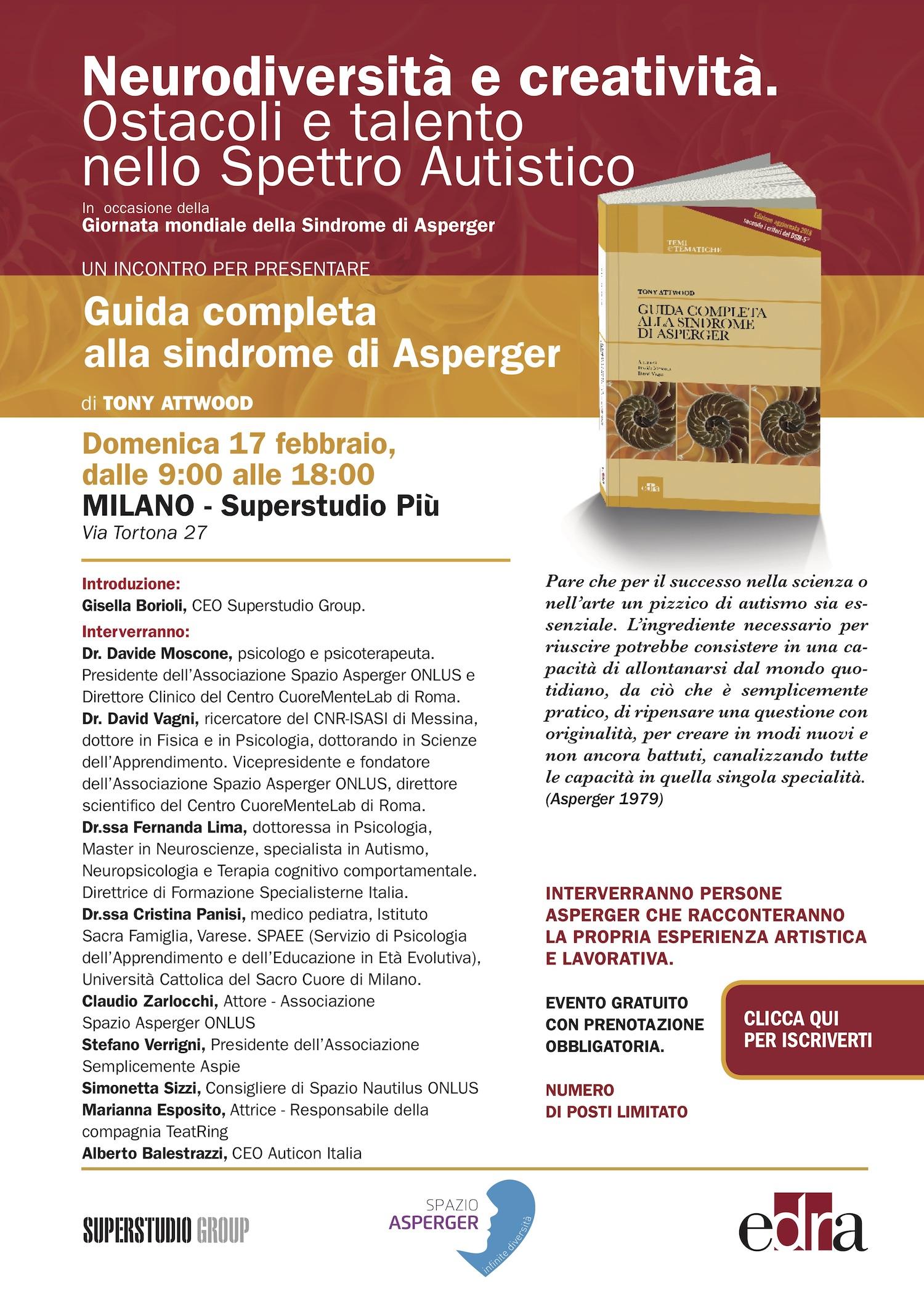 bfc8356542bb7 Neurodiversità e Creatività - Milano - 17 febbraio 2019